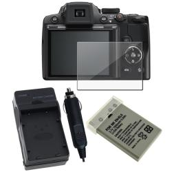 Battery/ Charger/ Screen Protector for Nikon CoolPix P500