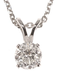 Miadora 14k White or Yellow Gold 1/2ct TDW Certified Diamond Solitaire Pendant