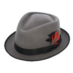 Ferrecci Men's 'Detroit' Grey Fedora Hat