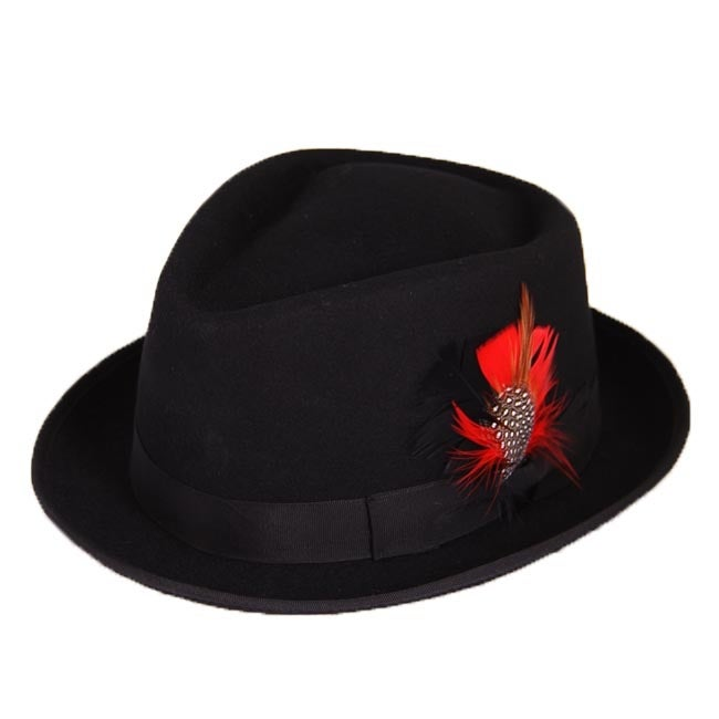 Ferrecci Detroit Black Wool Hat