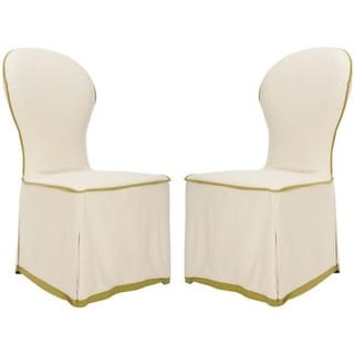 Safavieh Classical Rouen White Slipcover Oval Side Chairs (Set of 2)