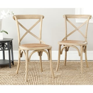 Safavieh Classical Bradford X Back Grey Side Chairs (Set of 2)