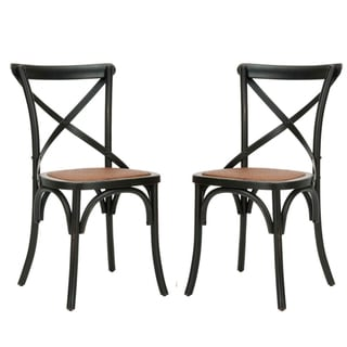 Sale alerts for  Safavieh Classical Bradford X Back Antiqued Black Side Chairs (Set of 2) - Covvet