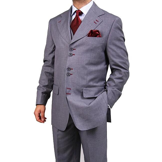 Ferrecci Men's Six-Button Urban Grey Suit