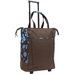 U.S. Traveler GP42211 Brown Dot 20-inch Leak-proof Rolling Shopper Tote