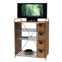 Organize It All Wicker Media Unit