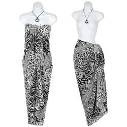 Black and White Feline 2 Sarong (Indonesia)
