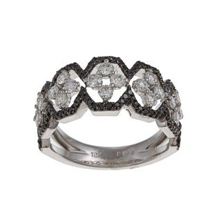 Kabella Luxe 18k White Gold 1ct TDW White and Black Diamond Ring (G-H, VS1-VS2)