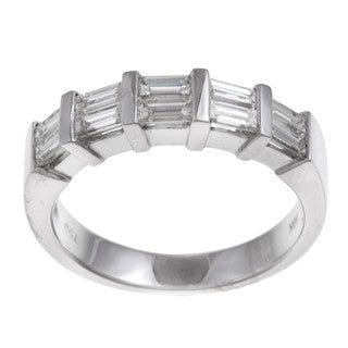 18k White Gold 7/8ct TDW Baguette Diamond Anniversary Ring (G-H, VS1-VS2)