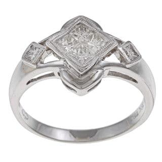 18k White Gold 1/2ct TDW Princess-cut Diamond Ring (H-I, SI1-SI2)