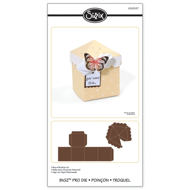 SIZZIX BY ELLISON Sizzix Bigz Pro Box with Scallop Lid Die at Sears.com