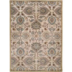 Hand-tufted Havana Beige Floral Wool Rug (12' x 15')