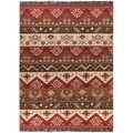Hand-woven Red/Tan Southwestern Aztec Knoxville Wool Flatweave Rug (8' x 11')