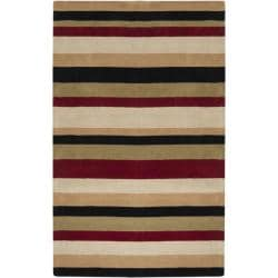 Hand-tufted Casual Multi Striped Windsor Wool Rug (8' x 10')