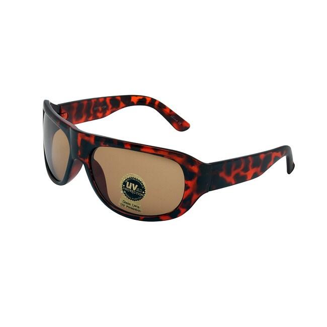 Unisex Noir Brown Hand-Polished Fashion Sunglasses