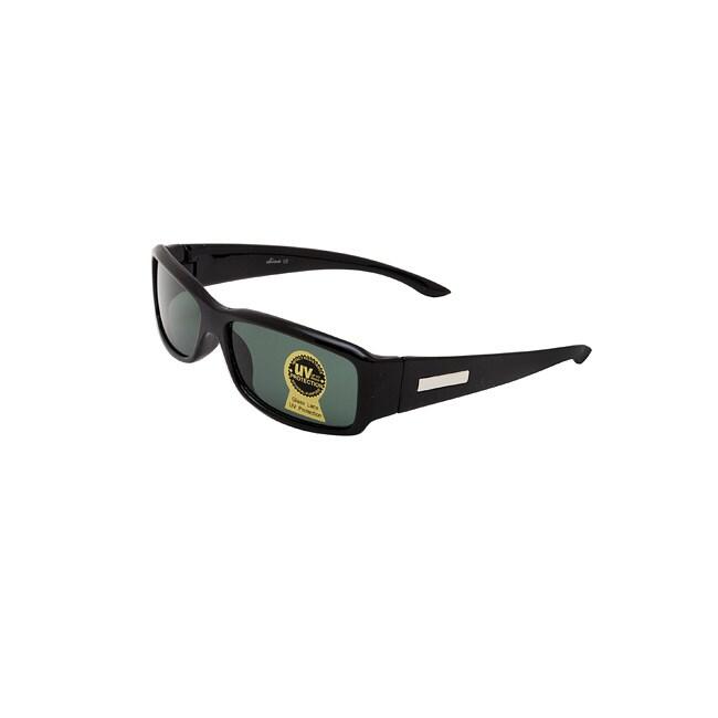 Unisex Onyx Black Fashion Sunglasses with UV Protection