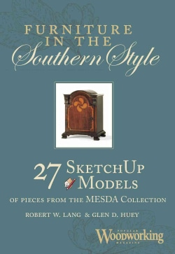 Furniture in the Southern Style: 25 Shop Drawings of Furniture from the Museum of Early Southern Decorative Arts (Hardcover)