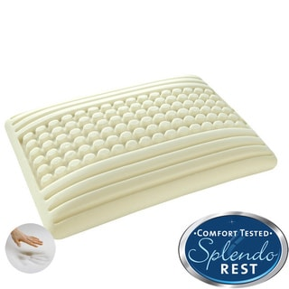 Splendorest 'Perfect' Dots and Stripes Traditional-shape Memory Foam Pillow