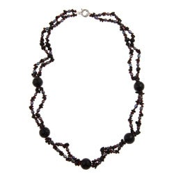 Pearlz Ocean FW Pearl and Multi-gemstone 29-inch Necklace