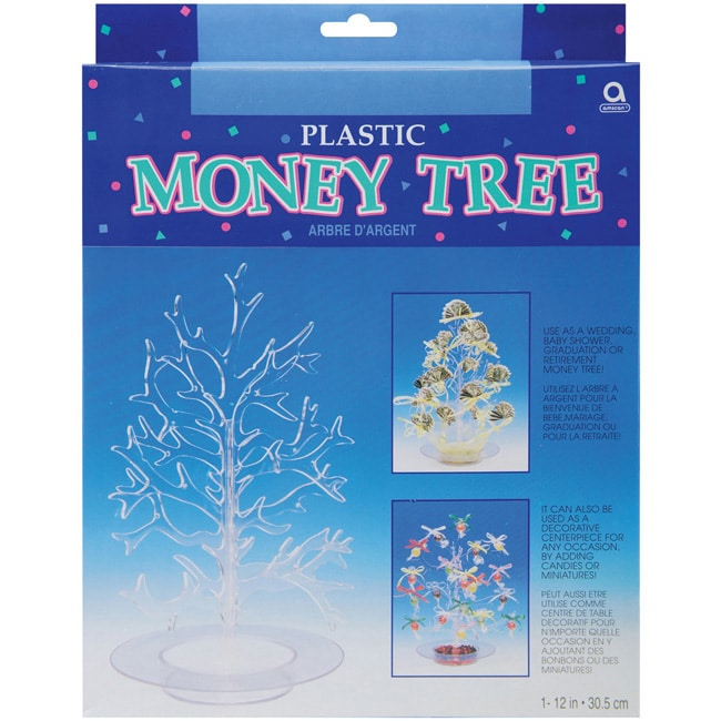Clear Acrylic-plastic Wedding/Shower/Graduation Money Tree