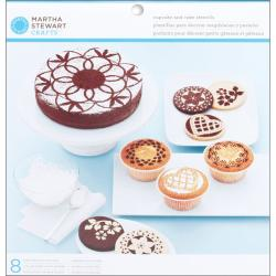 Doily Lace 8-piece Cake And Cupcake Stencils