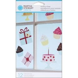 Martha Stewart Modern Festive Window Clings (Pack of 12)