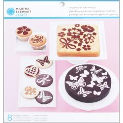 Vintage Girl 8-piece Cake And Cupcake Stencils