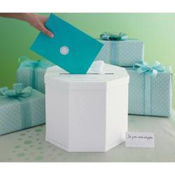 Celebrate Decor White Eyelet Gift Card Box