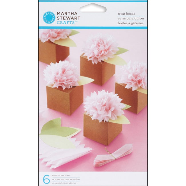 Martha Stewart Vintage Girl Pom Pom Treat Boxes (Pack of 6)