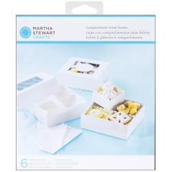 Martha Stewart Doily Lace Compartment Treat Boxes (Pack of 6)