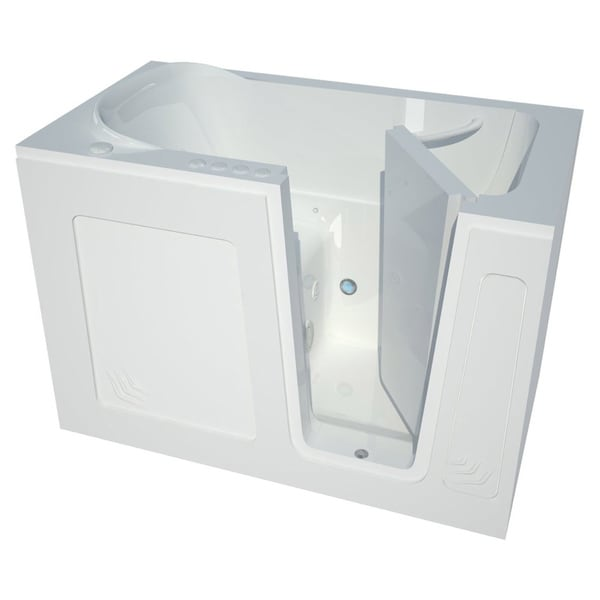 Meditub White 54-inch Right-hand Walk-in Air Tub