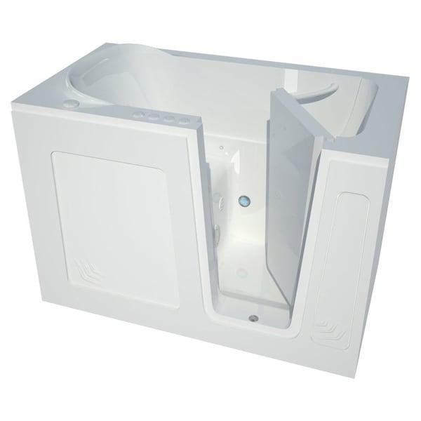Meditub White 54-inch Right-hand Walk-in Air Tub