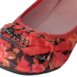 Adi Women's 'Rockit-12' Chain Detail Floral Ballet Flats