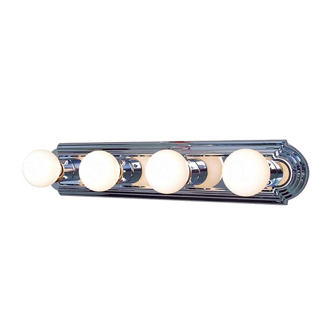 Woodbridge Lighting Basic 4 Light Chrome Bath Bar Fixture 13837077 Overst