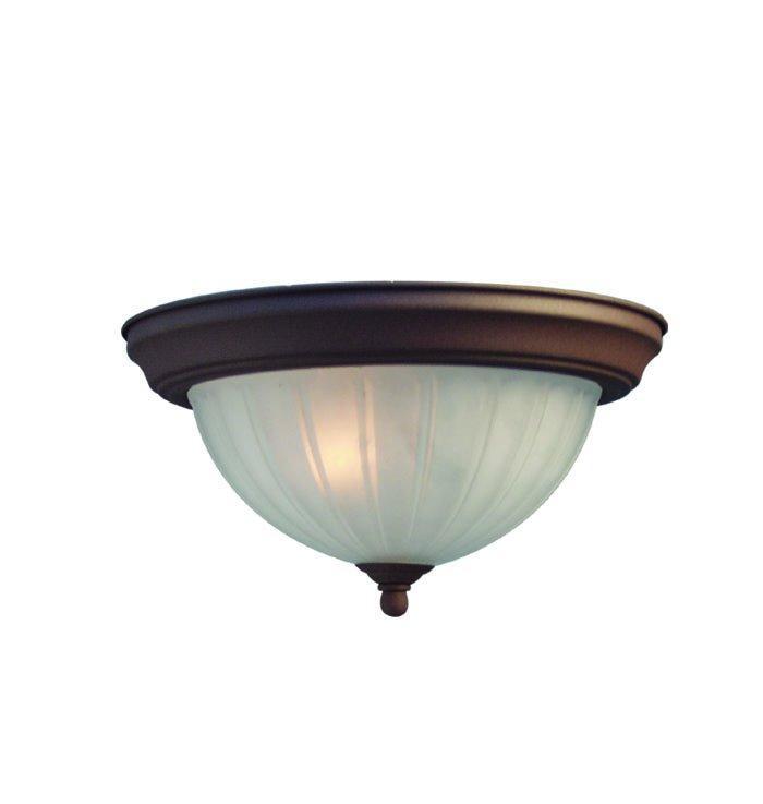 Woodbridge Lighting Basic 2-light Antique Bronze Flush Mount