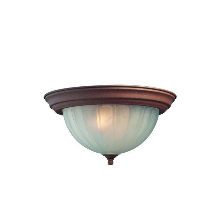 Woodbridge Lighting Basic 1-light Antique Bronze Flush Mount