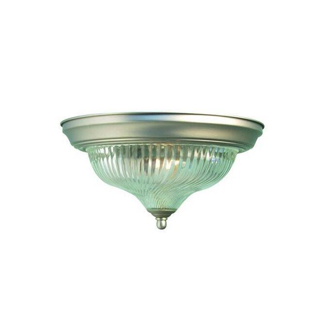 Woodbridge Lighting Basic 1-light Satin Nickel Flush Mount