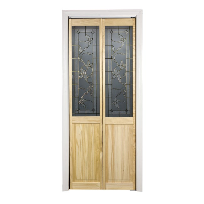 Giverny 617 30x80 5 Inch Glass Over Panel Unfinished Bifold Door Overstock Shopping Great
