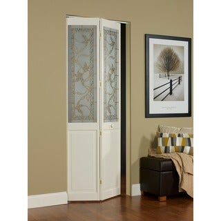 Giverny 617 30x80.5-inch Glass-over-panel Unfinished Bifold Door