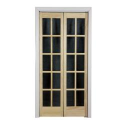 Traditional Divided Glass 32x80.5-inch Unfinished Bifold Door