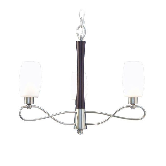 Woodbridge Lighting Berkeley 3-light Black Walnut/ Nickel Chandelier