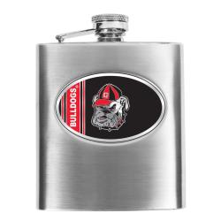 Georgia Bulldogs 8-oz Stainless Steel Hip Flask
