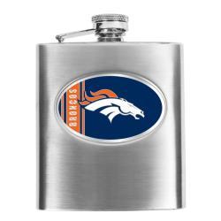 Denver Broncos 8-oz Stainless Steel Hip Flask