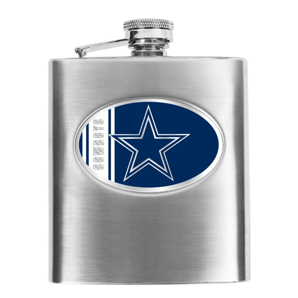 NFL Dallas Cowboys 8-oz Stainless Steel Hip Flask