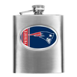 New England Patriots 8-oz Stainless Steel Hip Flask