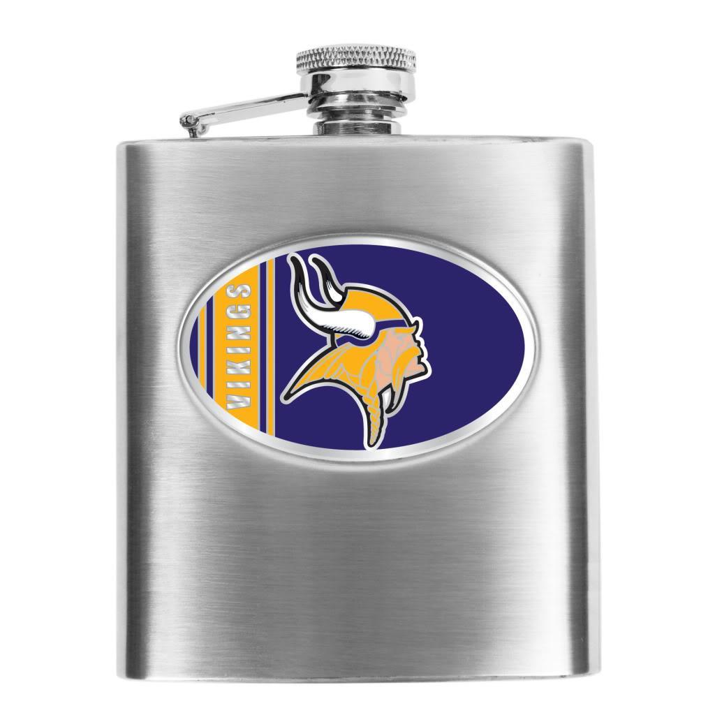 Minnesota Vikings 8-oz Stainless Steel Hip Flask