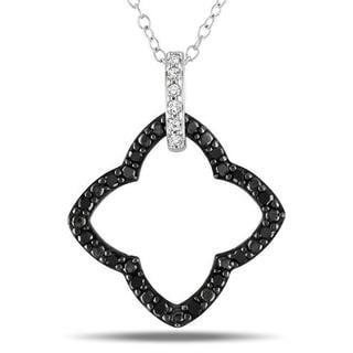 M by Miadora Sterling Silver 1/4ct TDW Black and White Diamond Necklace (G-H, I3)
