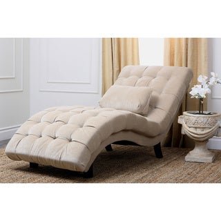 Abbyson Living Soho Cream Fabric Chaise