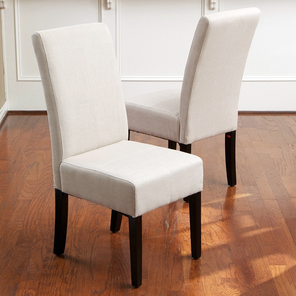 knight home t stitch natural linen dining chairs set of 2