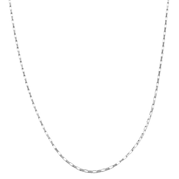 Fremada 14k White Gold Reflection Box Chain (18 inches to 20 inches)